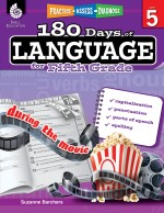 180 Days of Language for Fifth Grade: Practice, Assess, Diagnose
