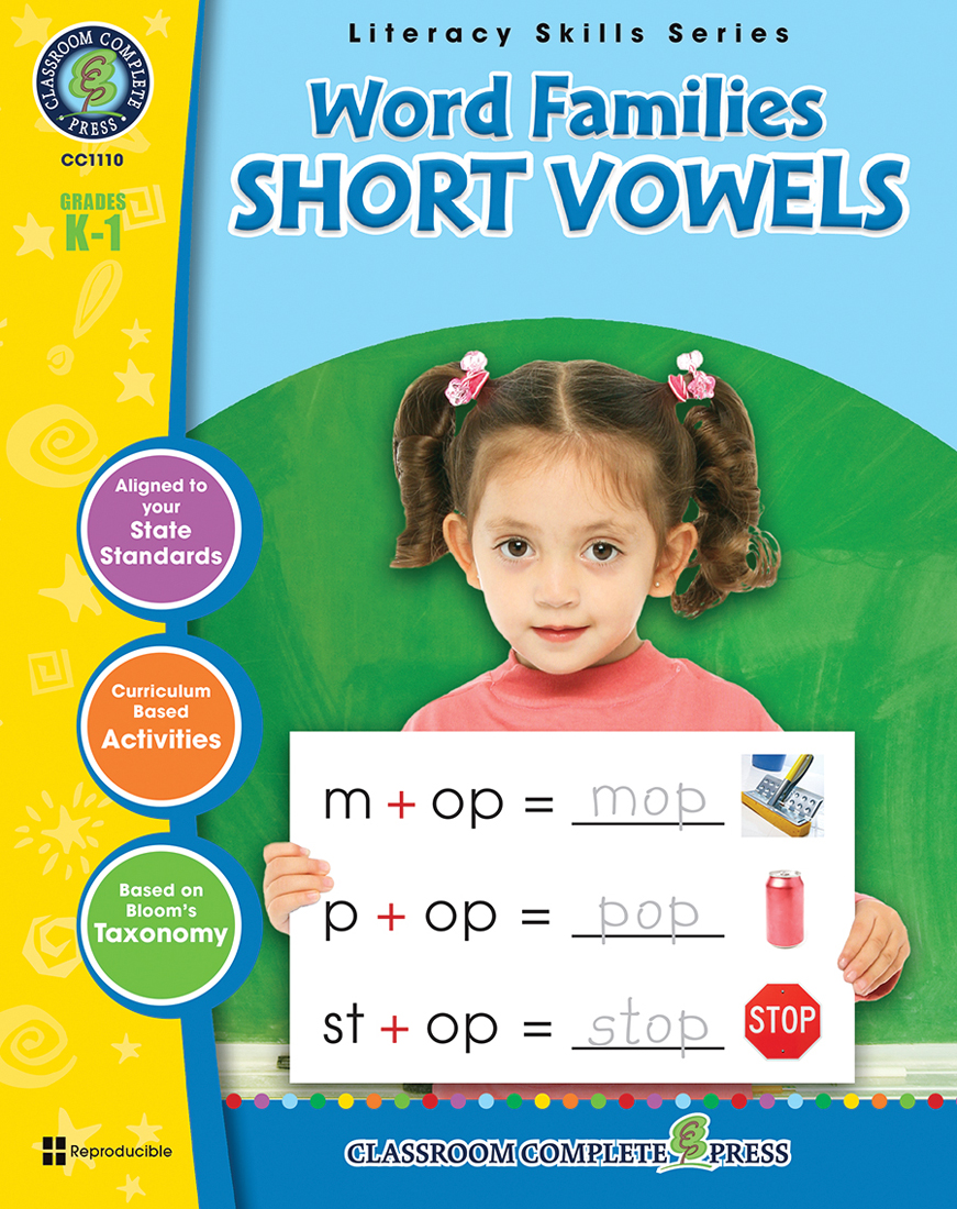 Word Families - Short Vowels Gr. PK-2 By Staci Marck