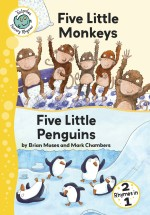 Five Little Monkeys and Five Little Penguins: Read Along or Enhanced eBook